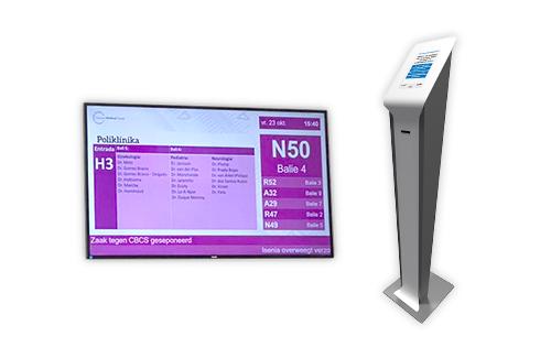 Wachtkamer management met scherm en kiosk
