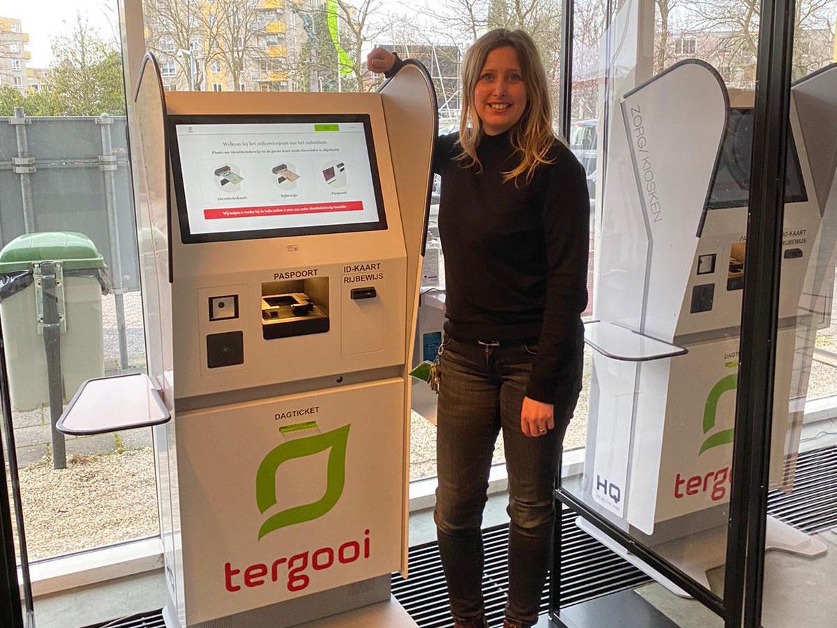 Interview met Daniella van de Stolpe van Tergooi, over de aanmeldkiosk van HQ Healthcare.